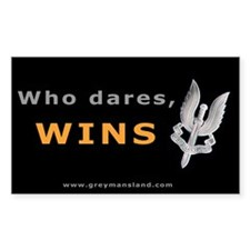 Who Dares Rectangle Decal