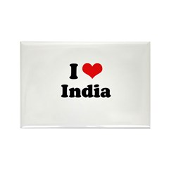 I love India Rectangle Magnet (100 pack)