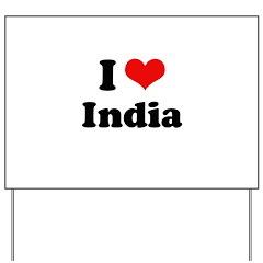 I love India Yard Sign