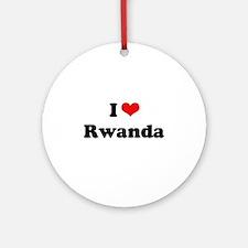 I love Rwanda Ornament (Round)