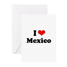 I love Mexico Greeting Cards (Pk of 10)