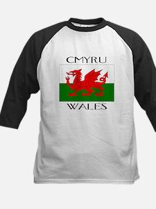 CYMRU WALES Kids Baseball Jersey