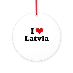 I love Latvia Ornament (Round)