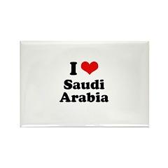 I love Saudi Arabia Rectangle Magnet