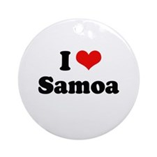 I love Samoa Ornament (Round)