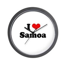 I love Samoa Wall Clock