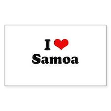 I love Samoa Rectangle Decal