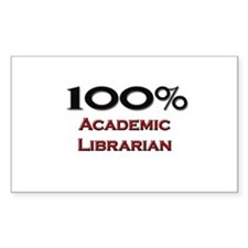100 Percent Academic Librarian Rectangle Decal