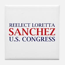 Reelect Sanchez Tile Coaster