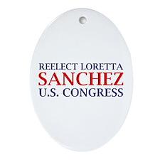 Reelect Sanchez Oval Ornament