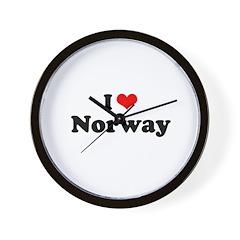 I love Norway Wall Clock