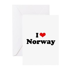 I love Norway Greeting Cards (Pk of 20)