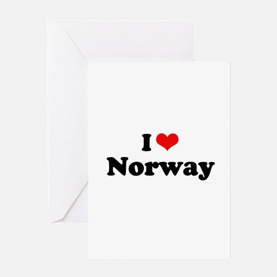 I love Norway Greeting Card