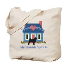 Finnish Spitz Home Is Tote Bag