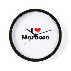 I love Morocco Wall Clock
