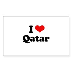 I love Qatar Rectangle Sticker 50 pk)