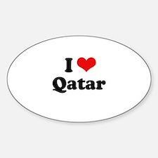 I love Qatar Oval Decal