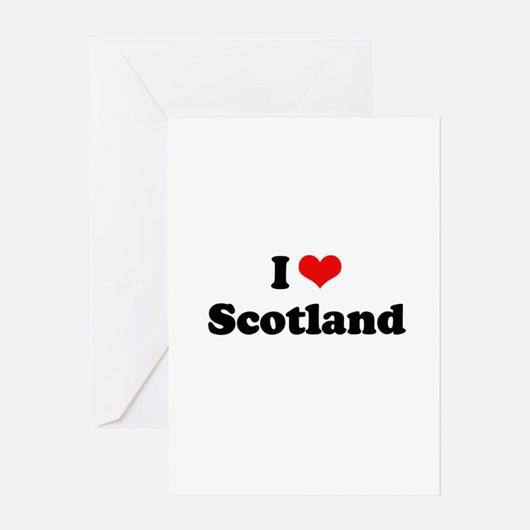 I love Scotland Greeting Card