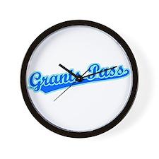 Retro Grants Pass (Blue) Wall Clock