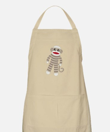 Sock Monkey Light Apron