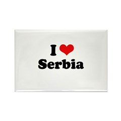 I Love Serbia Rectangle Magnet