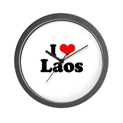 I love Laos Wall Clock