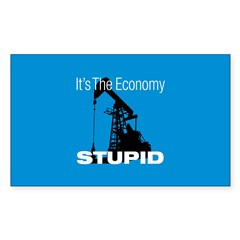 It's The Economy Stupid! Rectangle Decal