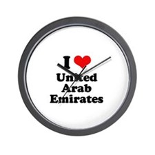 I love United Arab Emirates Wall Clock