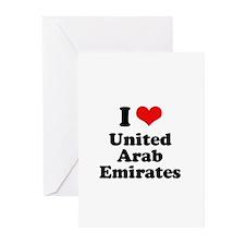 I love United Arab Emirates Greeting Cards (Pk of