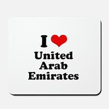I love United Arab Emirates Mousepad