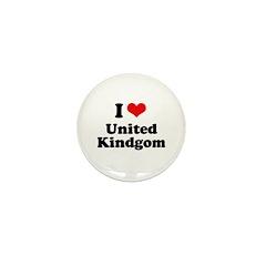 I love United Kingdom Mini Button (100 pack)