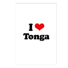 I love Tonga Postcards (Package of 8)