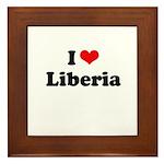 I love Liberia Framed Tile