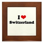 I love Switzerland Framed Tile