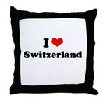 I love Switzerland Throw Pillow