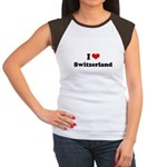 I love Switzerland Women's Cap Sleeve T-Shirt