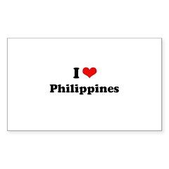 I love Philippines Rectangle Sticker 10 pk)
