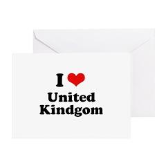 I Love United Kingdom Greeting Card