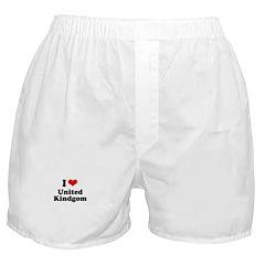 I Love United Kingdom Boxer Shorts