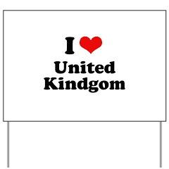 I Love United Kingdom Yard Sign