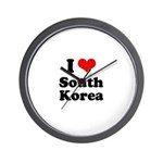 I Love South Korea Wall Clock