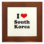 I Love South Korea Framed Tile