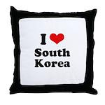I Love South Korea Throw Pillow