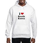 I Love South Korea Hooded Sweatshirt