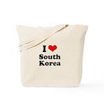 I Love South Korea Tote Bag
