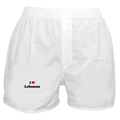 I love Lebanon Boxer Shorts