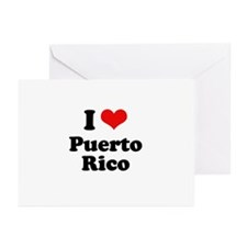 I love Puerto Rico Greeting Cards (Pk of 20)