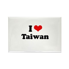 I love Taiwan Rectangle Magnet (10 pack)