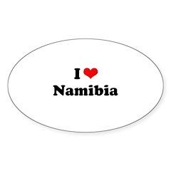I love Namibia Oval Sticker (50 pk)