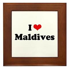 I love Maldives Framed Tile